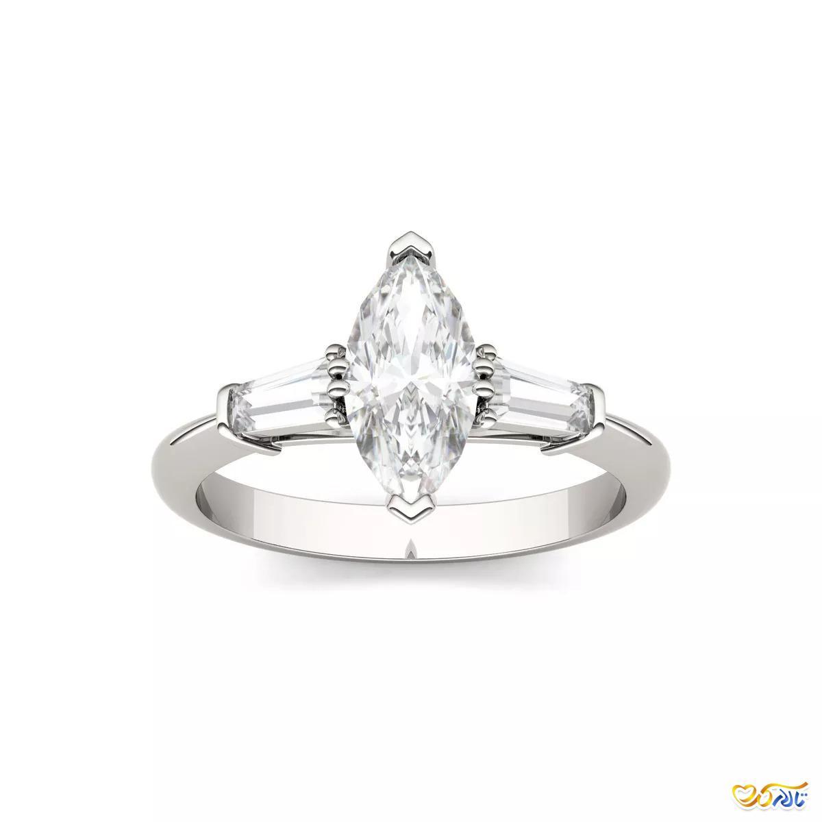 انگشتر نامزدی الماس موزانایت
