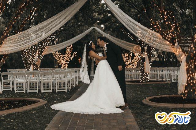 جایگاه عروس و داماد در تالار عروسی