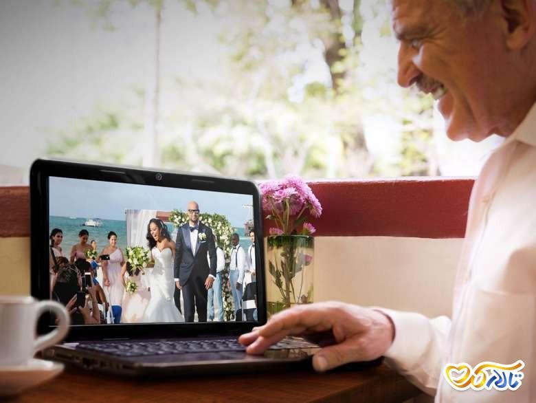 جشن عروسی با تماس تصویری