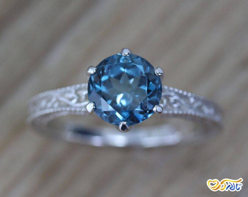 حلقه جواهر توپاز