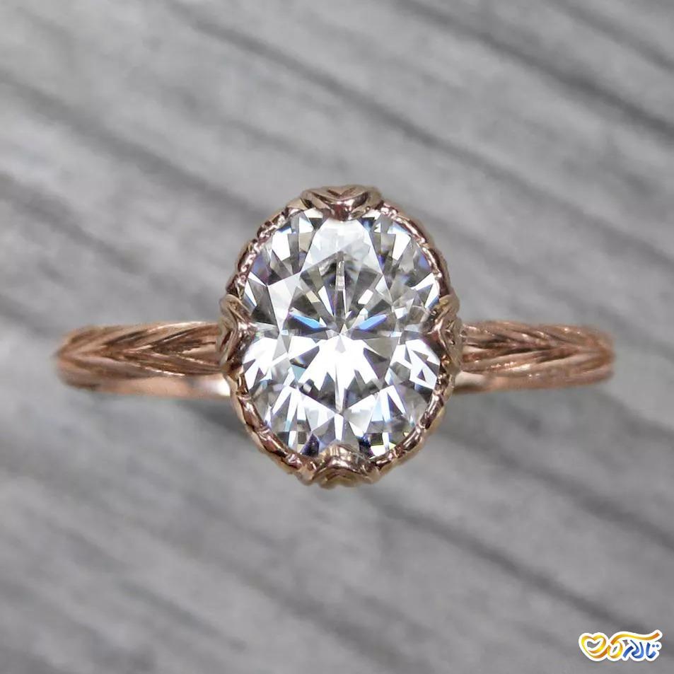 مدل حلقهی عروسی و انگشتر نامزدی موزانایت
