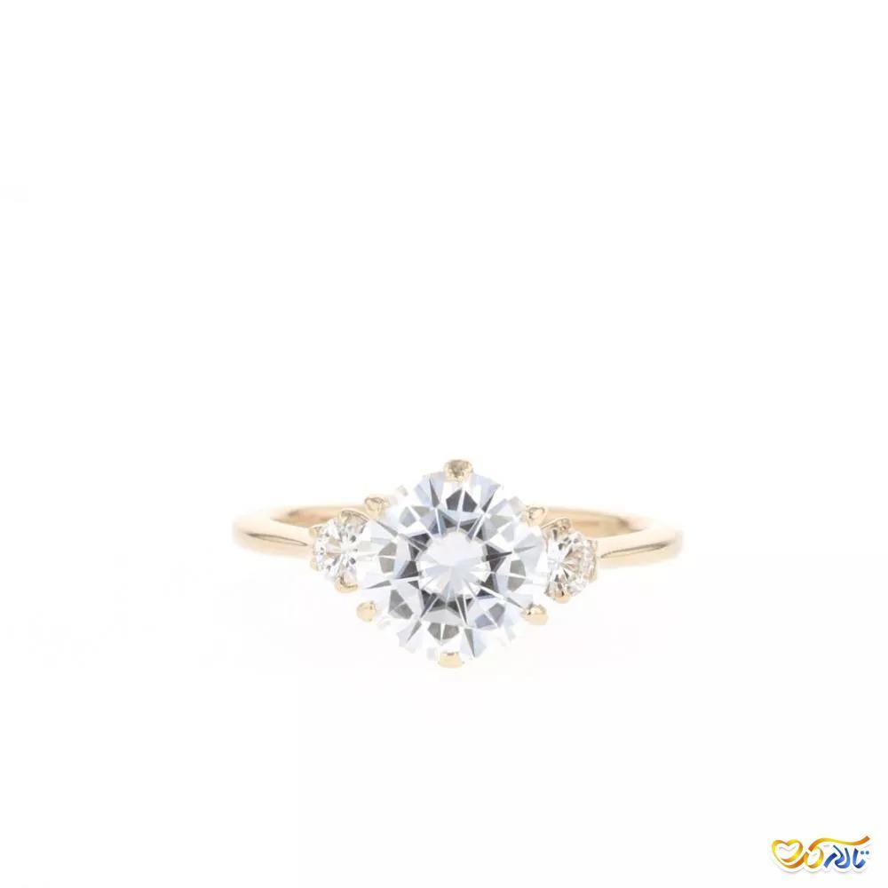 حلقه ی عروسی جواهر موزانایت
