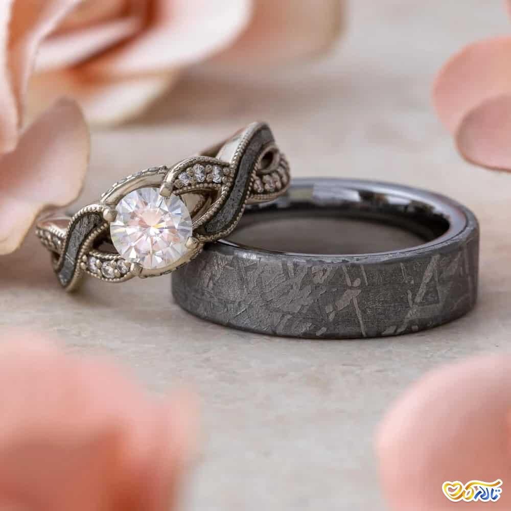 ست حلقه ی عروسی و انگشتر نامزدی