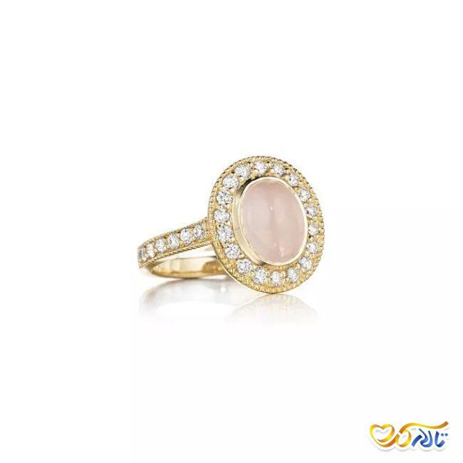 سنگ جواهر حلقه عروسی