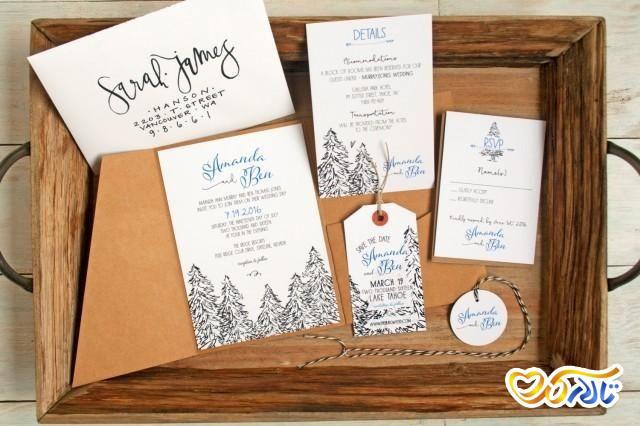 طراحی کارت دعوت عروسی زمستانی