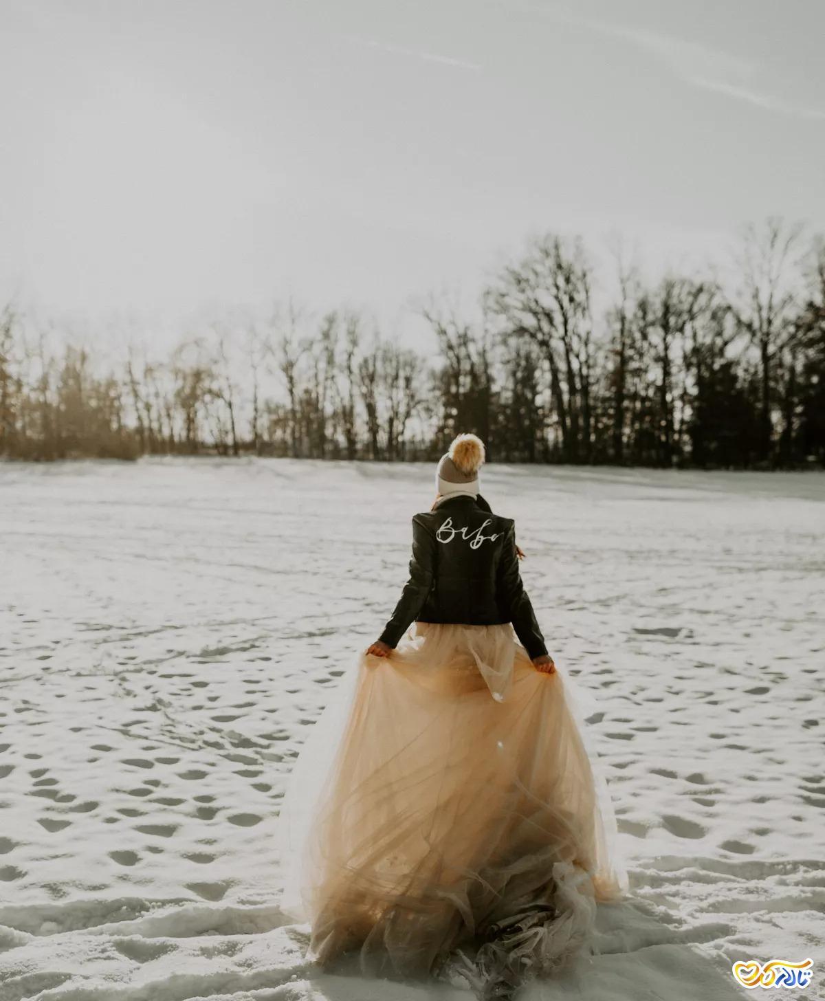 عکاسی عروسی با تم زمستانی
