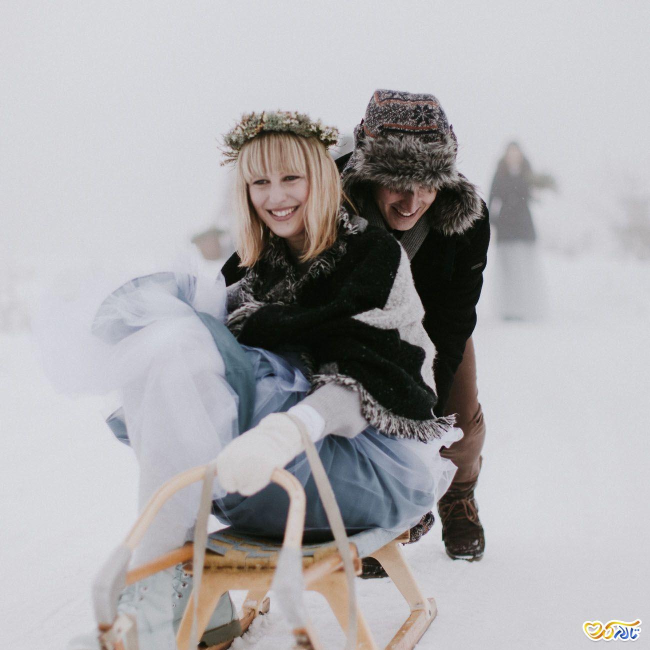 عکاسی عروسی در زمستان