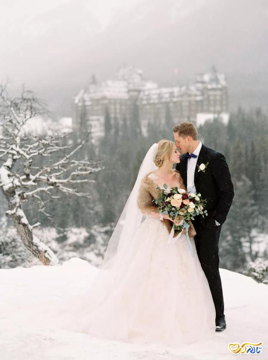 عکس عروسی برفی