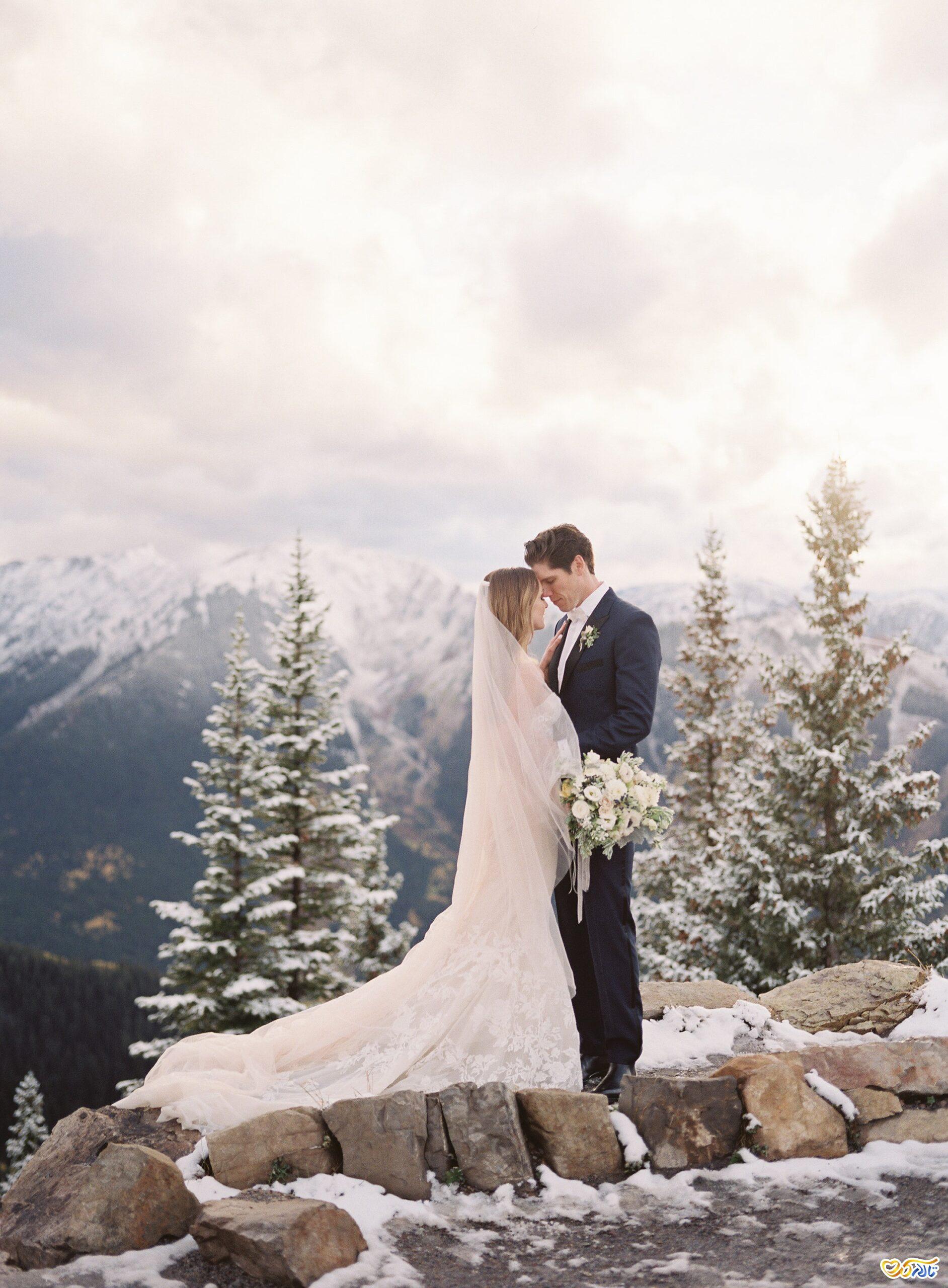 عکس عروسی در برف