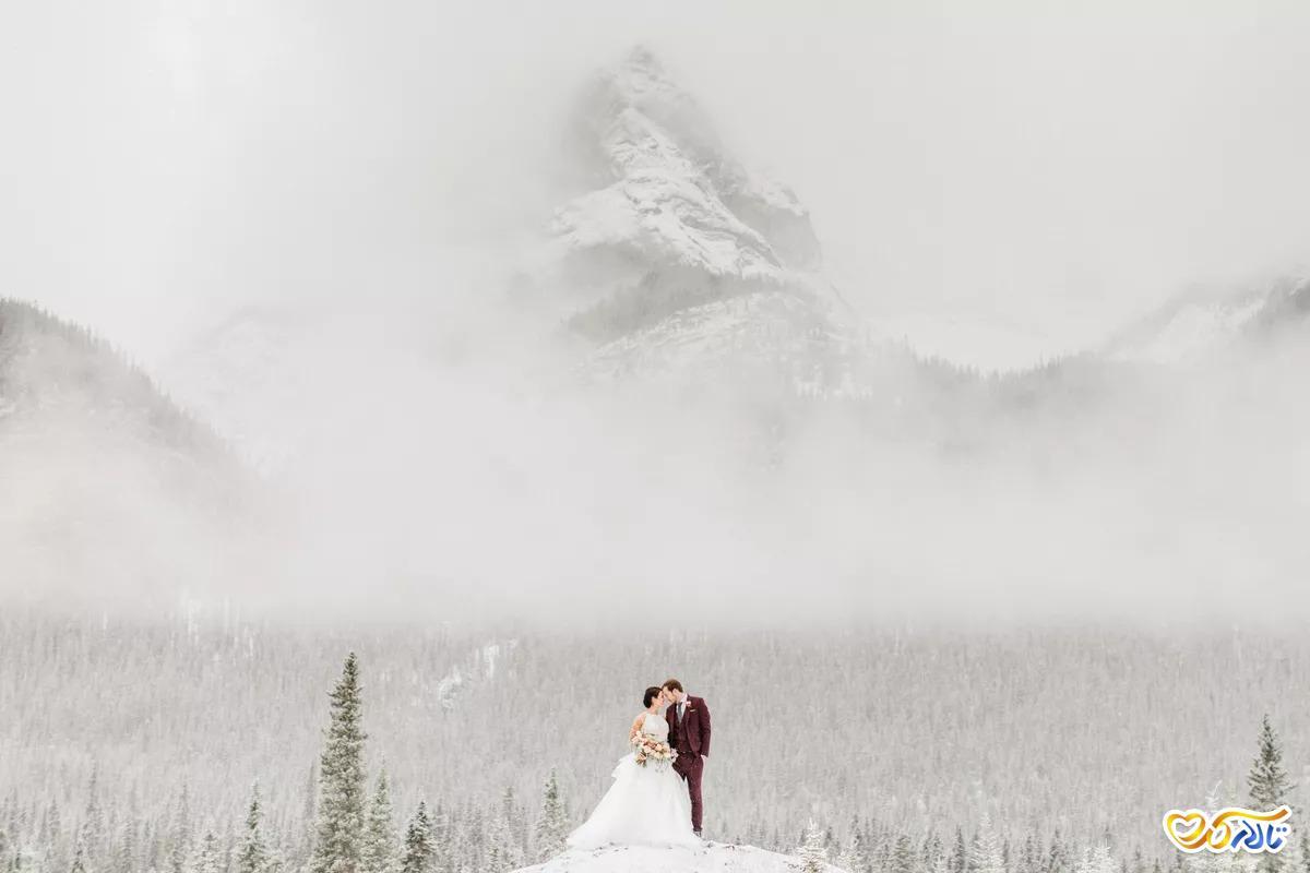 عکس های عروسی در برف
