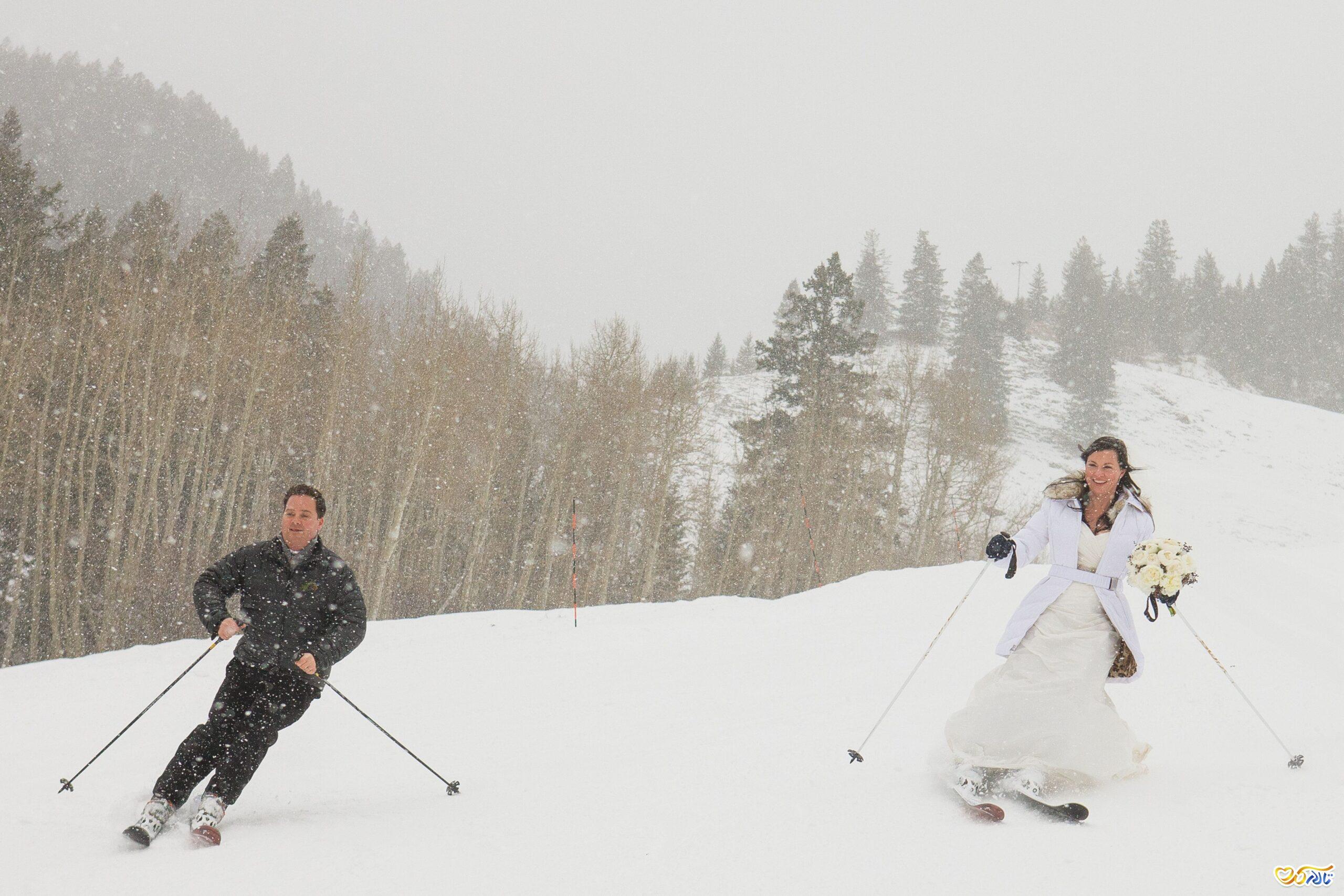 عکس های عروسی در زمستان