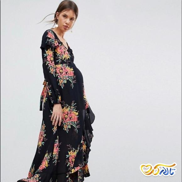 لباس بارداری مجلسی گل دار