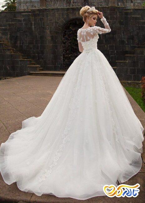 لباس عروس پرنسسی پف دار