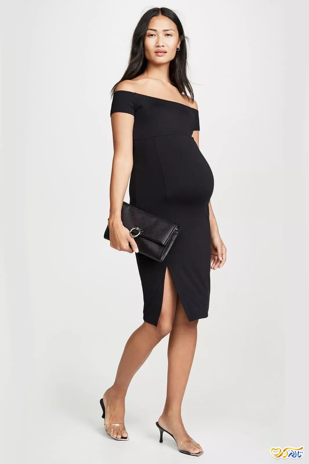 لباس مجلسی بارداری کوتاه