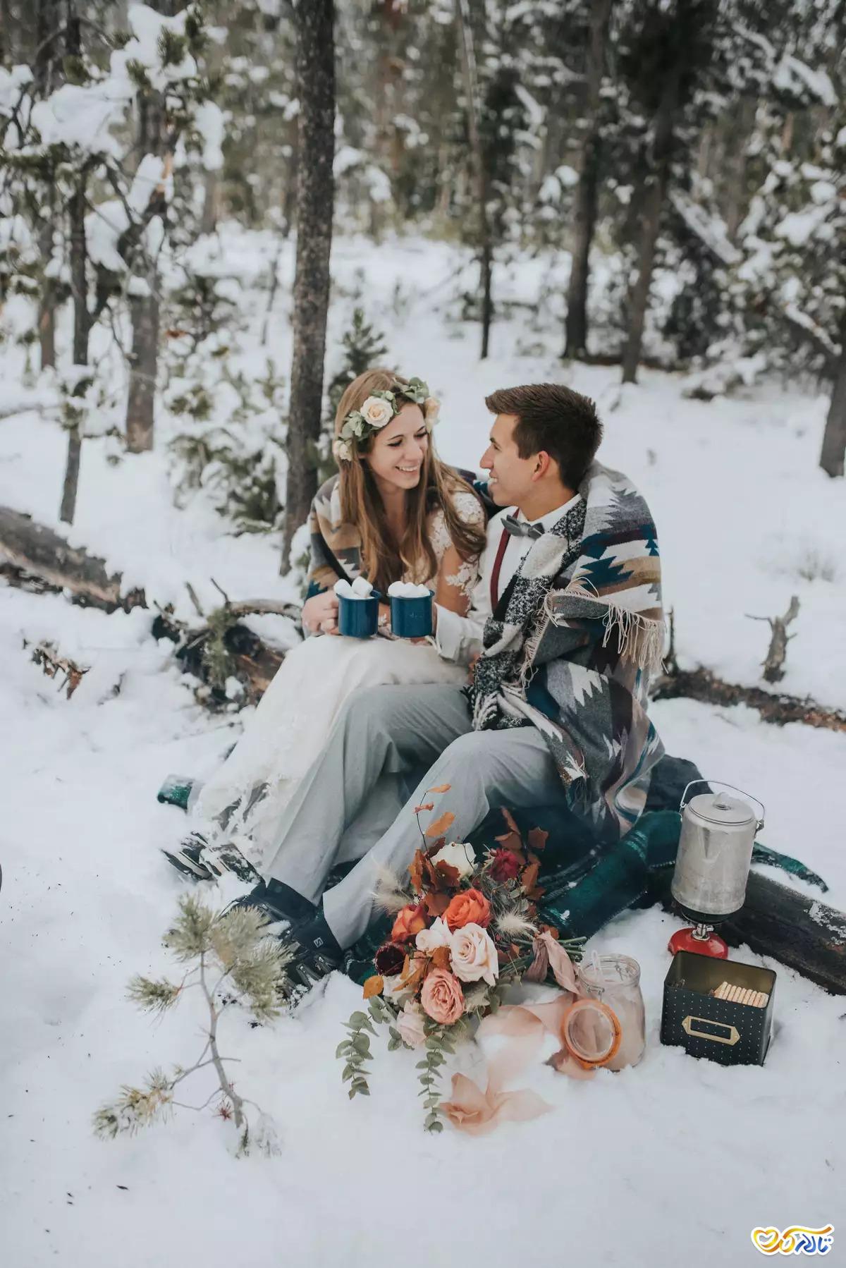 مراسم عروسی زمستانی