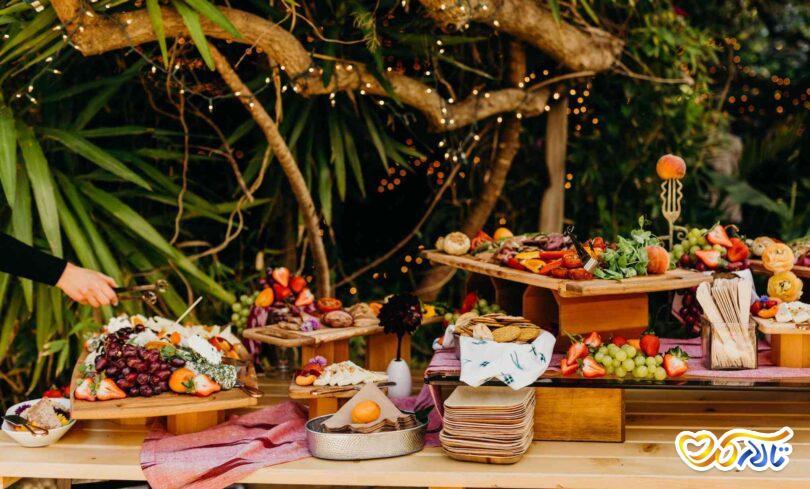 چیدمان میز شام عروس و داماد