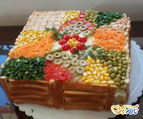 کیک مرغ غذای تولد