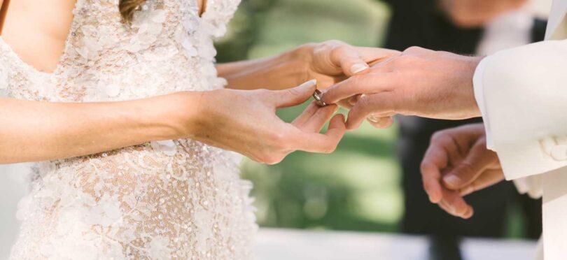 حلقه ازدواج عروس و داماد محضر عقد