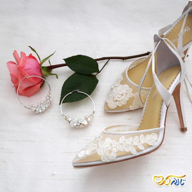 کفش عروس توری و شیک