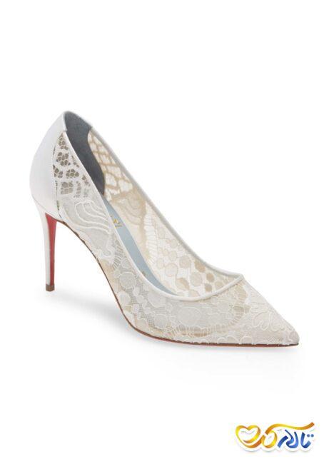 کفش عروس زیبا و توری