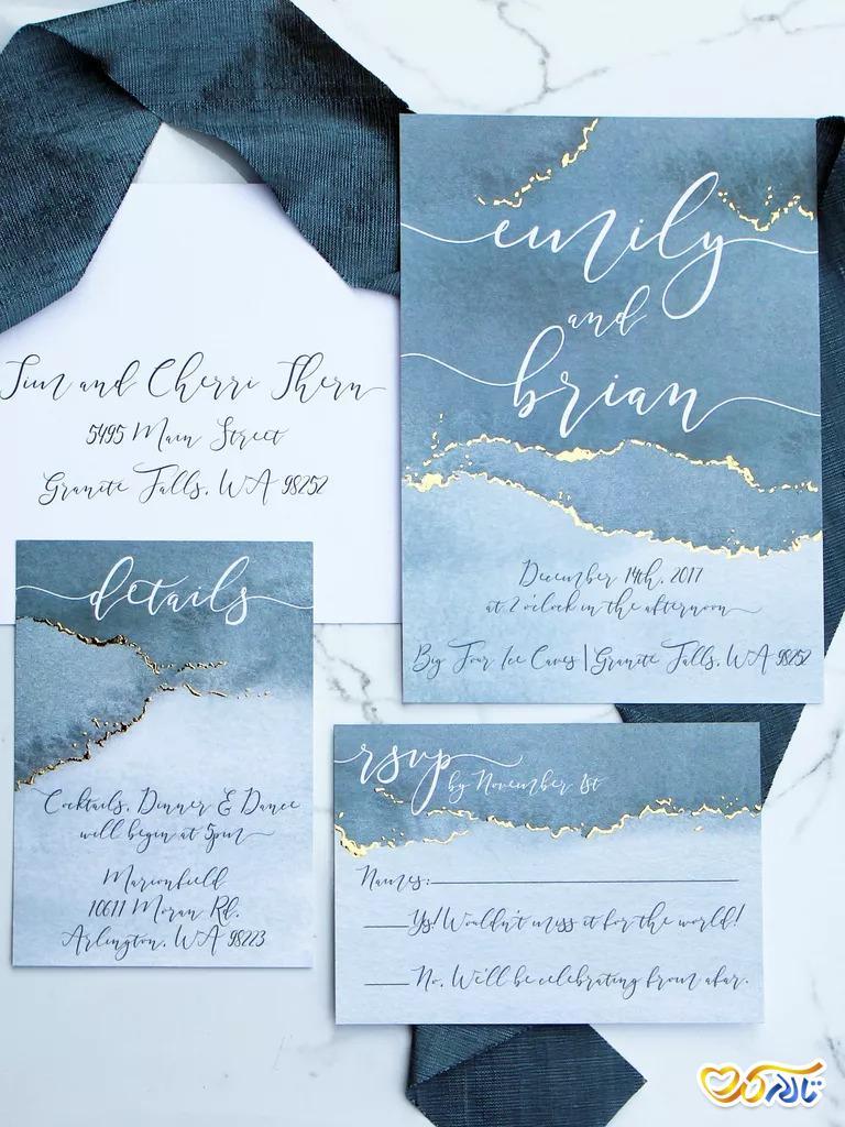 کارت عروسی زمستانی