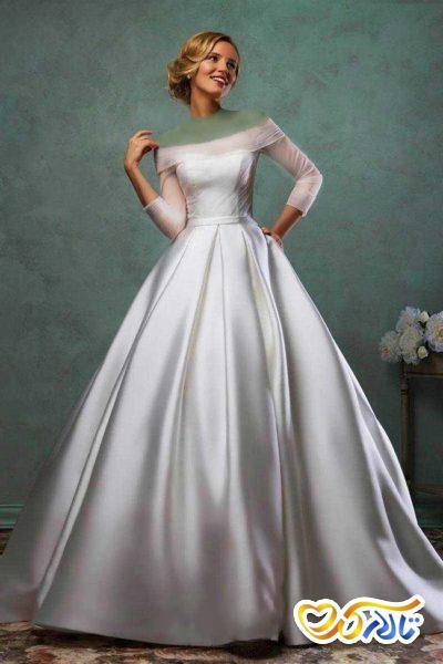 پارچه لباس عروس ساتن
