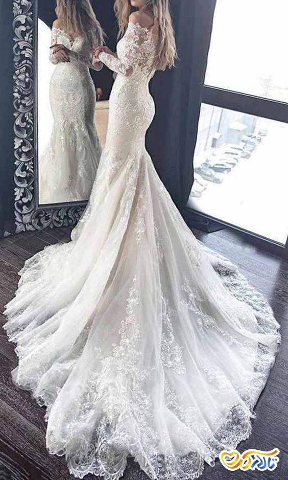 لباس عروس پشت بلند