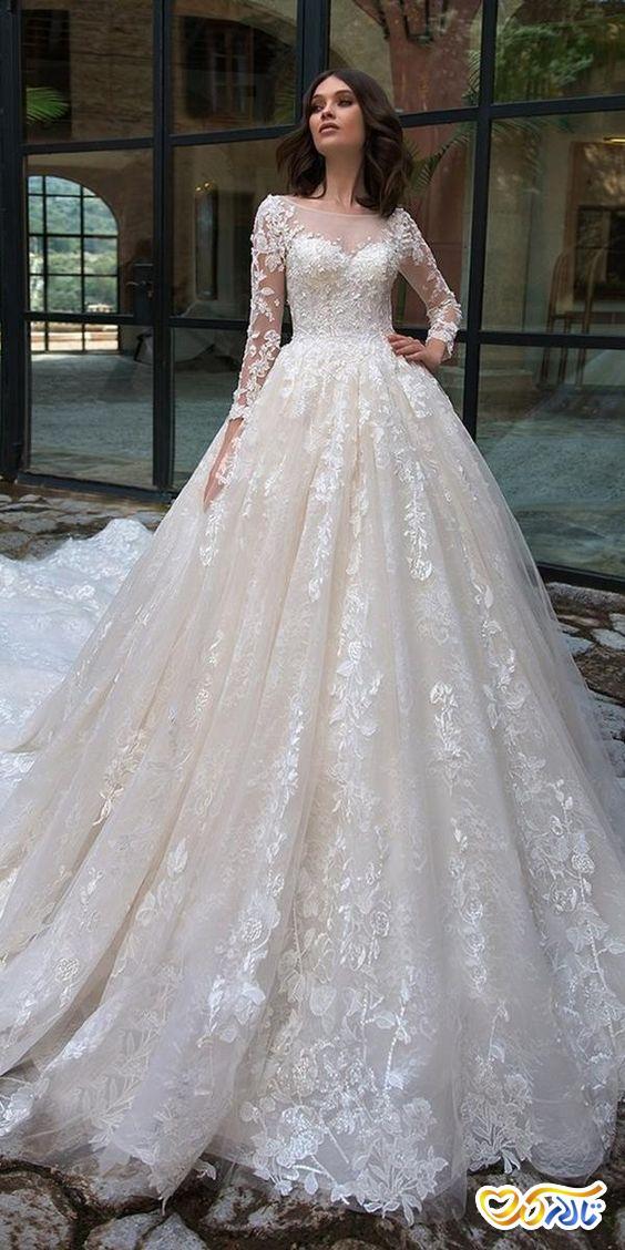 لابس عروس اسکارلوت پشت بلند