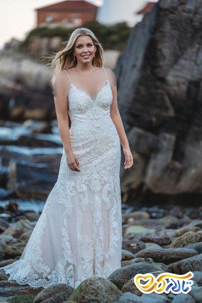 انواع یقه لباس عروس