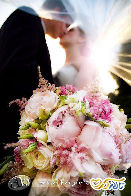ژست عاشقانه عروس داماد