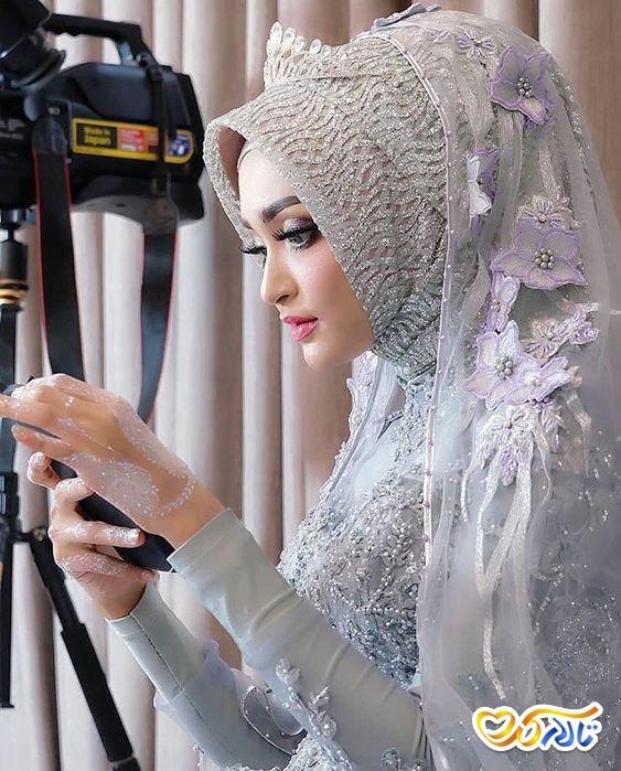 لباس عروس با حجاب و جذاب