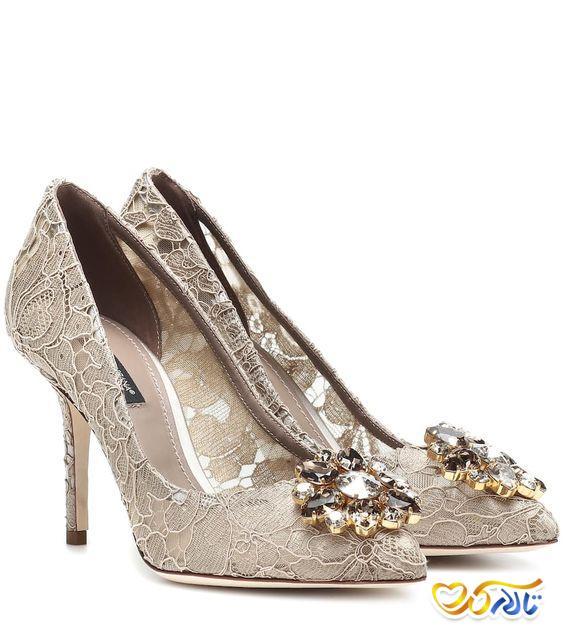 کفش عروس توری و زیبا