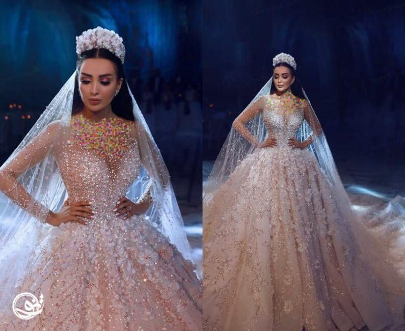 مدل لباس عروس تاجدار و سلطنتی