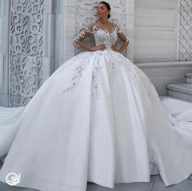 مدل لباس عروس پرنسسی پفی کلاسیک
