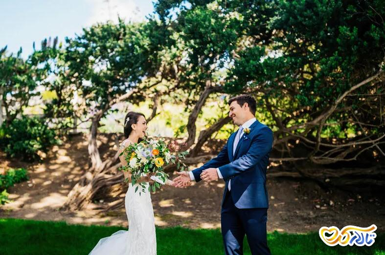 عکس و ژست عاشقانه عروس داماد