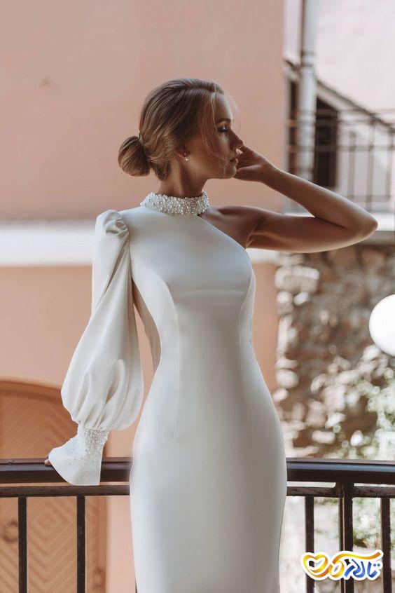 لباس عروس جدید مرواریددوزی شده