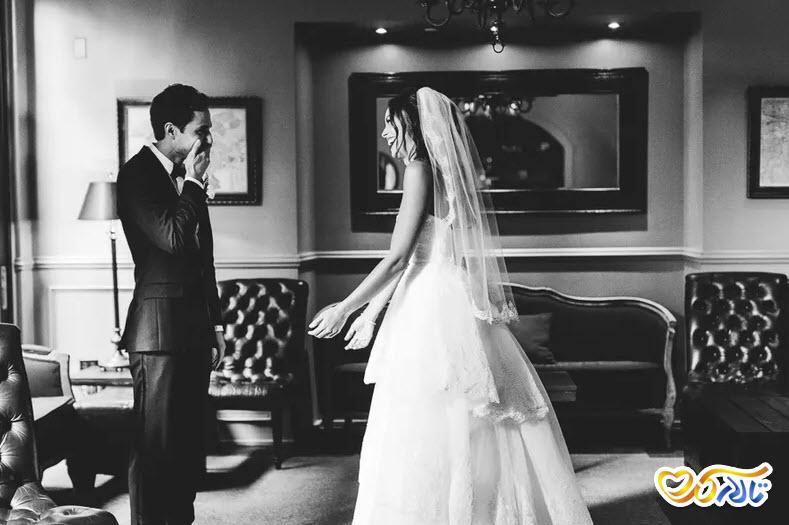 ژست عکس عروس داماد