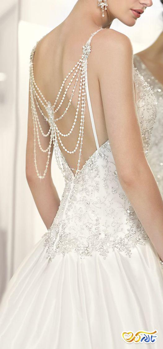 لباس عروس مرواریددوزی 2021