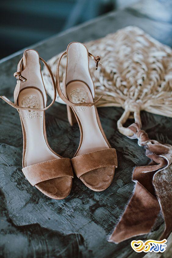 کفش عروس رنگی