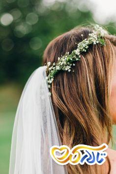 انواع مدل های تاج عروس,تاج گل عروس