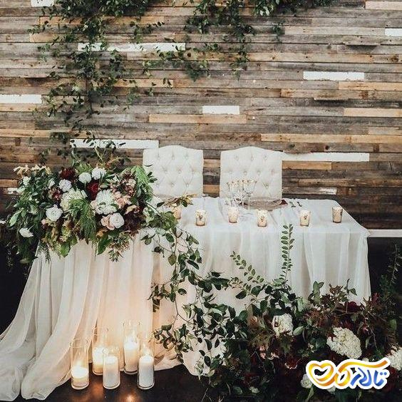 گل آرایی و تزئین میز عروس و داماد