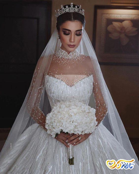 لباس عروس کریستال دوزی