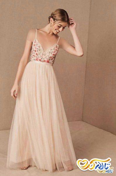 لباس شب صورتی عروسی