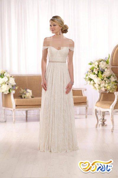لباس عروس دکولته دامن توری