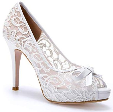 کفش عروس پاشنه دار کارشده