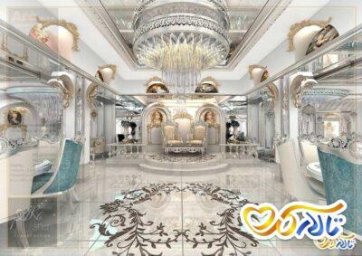 دکوراسیون داخلی و دیزاین تالار پذیرایی باشگاه صاحبقرانیه