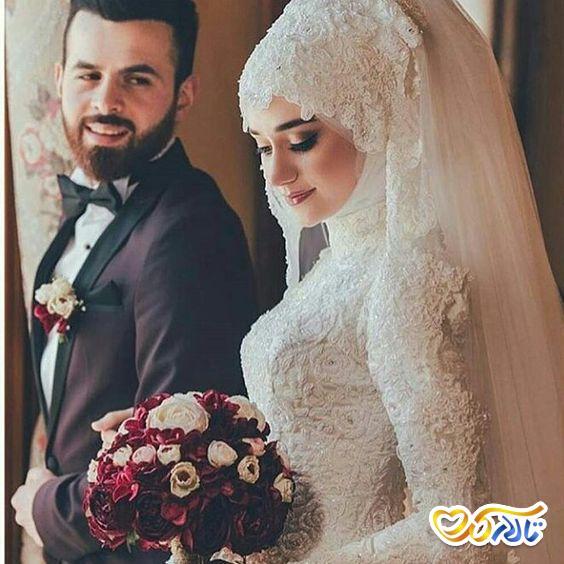لباس عروس لاکچری و با حجاب