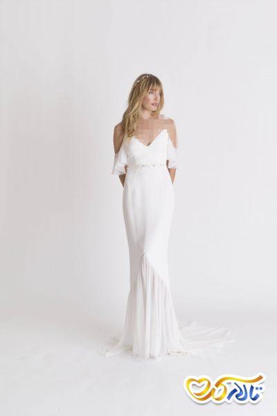 لباس عروس دکولته شیک