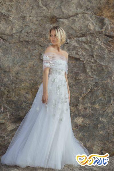 لباس عروس دکولته لاکچری