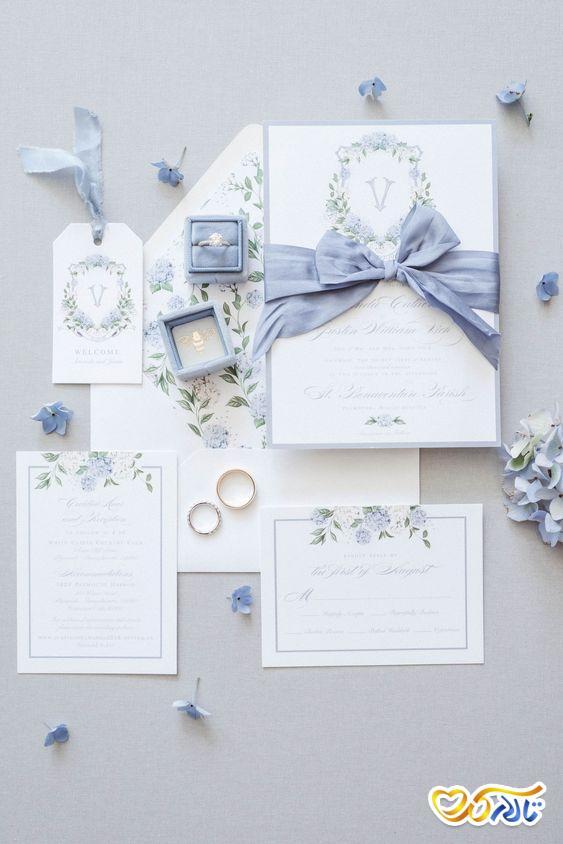 کارت دعوت عروسی شیک و زیبا